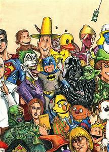Pop Culture Ventriloquist Mashup Drawing by John Ashton Golden