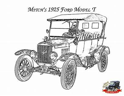 Ford Coloring Fordmodelt Pages Mitch 1925