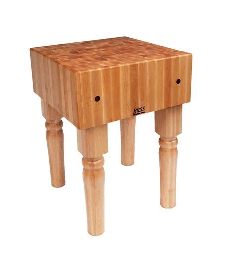 "John Boos Ab05 24"" X 24"" Solid Maple Butcher Block Table W"