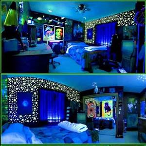 I need help finding a wall color for a blacklight bedroom