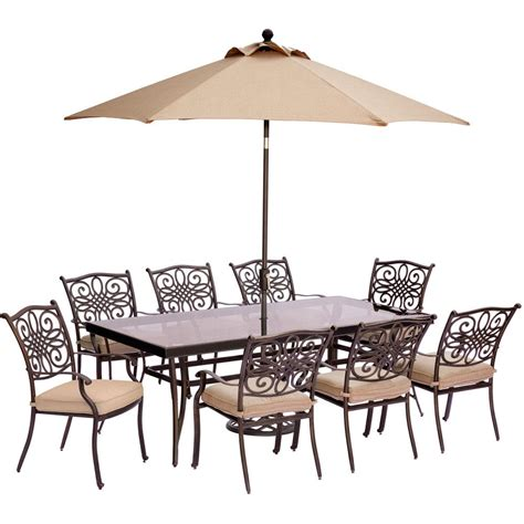 hanover traditions 9 outdoor dining set with