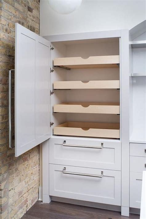 Kitchen Cupboard Pull Out Shelves by Fabulous Kitchen Features Concealed Pantry Cabinets Fitted