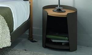 Table De Chevet Metal : table de chevet design couleur brun fabriqu en france ~ Melissatoandfro.com Idées de Décoration