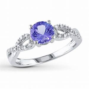Jared tanzanite ring 1 15 ct tw diamonds 10k white gold for Tanzanite wedding rings