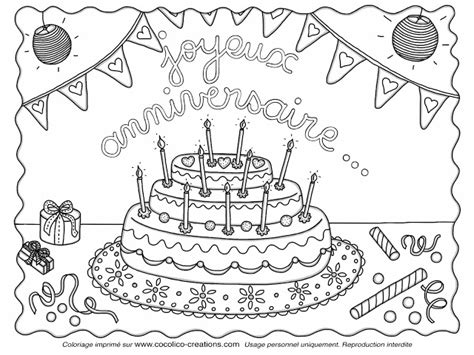 Cocolicocreations Mercredi Coloriage # 9, Gateau D