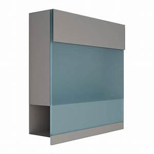 Acrylplatte Mit Echtglasbeschichtung : briefkasten design wandbriefkasten manhattan acryl blau grau metallic ~ Whattoseeinmadrid.com Haus und Dekorationen