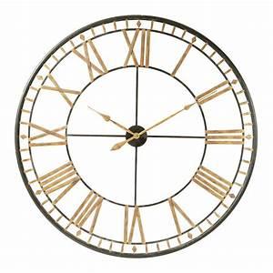 Horloge En Metal : horloge en m tal noire d 120 cm la valli re maisons du monde ~ Teatrodelosmanantiales.com Idées de Décoration