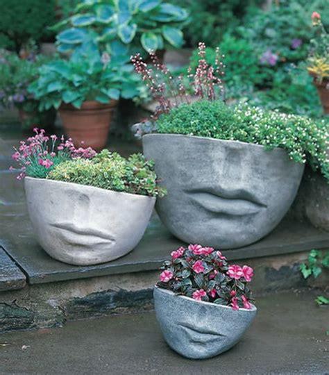 diy concrete garden decor   steal  show