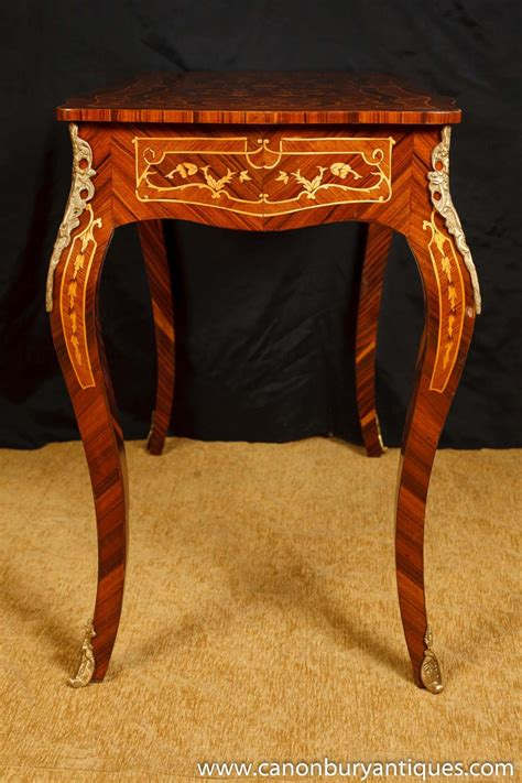 bureau louis 15 louis xv bureau plat desk writing table marquetry inlay