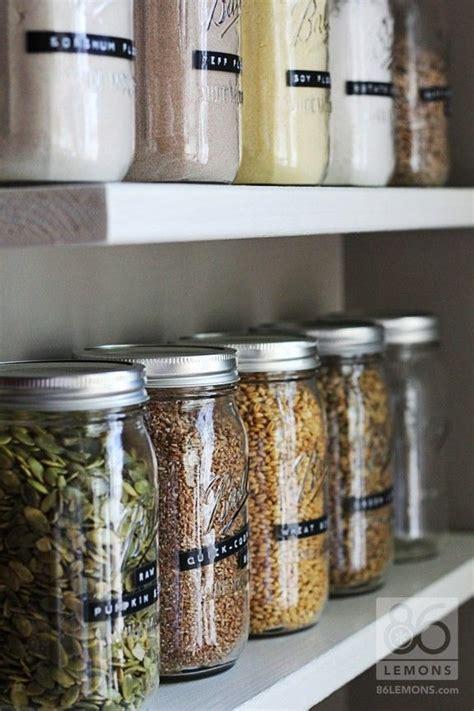 snug    part  open pantry mason jar storage pantry organisation