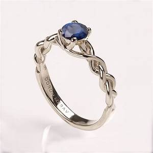 braided engagement ring no2 14k white gold and sapphire With braided wedding ring