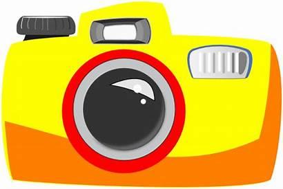 Clipart Camera Clip Simple Cliparts Clker Vector