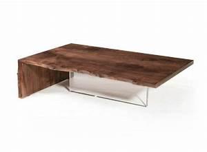 Table Basse Verre Bois : table basse en bois massif designs pour un int rieur pur ~ Teatrodelosmanantiales.com Idées de Décoration