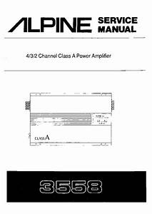 Alpine 3558 Car Amplifier Sm Service Manual Download
