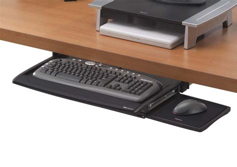 under desk computer tray amazon com fellowes office suites deluxe keyboard drawer