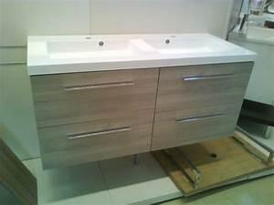 Meuble Double Vasque Suspendu : meuble suspendu 120 cm double vasque avec tiroir frein construction maison ~ Melissatoandfro.com Idées de Décoration