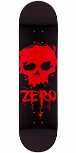Zero Blood Skull Skateboard Deck - 8.0""