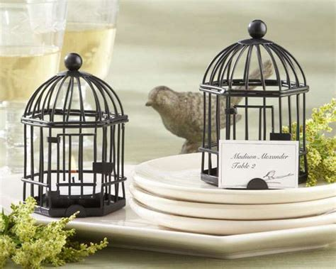 Birdcage Tea Light And Place Card Holder Wedding Favours