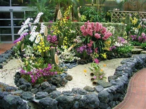 beet mit gräsern gestalten 1001 ideen zum thema blumenbeet mit steinen dekorieren