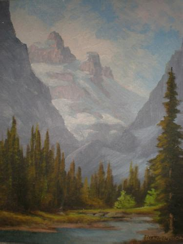 canadian oil painting  william harisch lake louise ebay