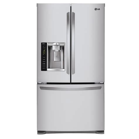 stainless steel door refrigerator shop lg 24 7 cu ft door refrigerator with maker