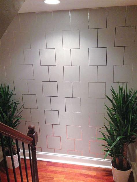 create  aluminum tape feature wall  deeva