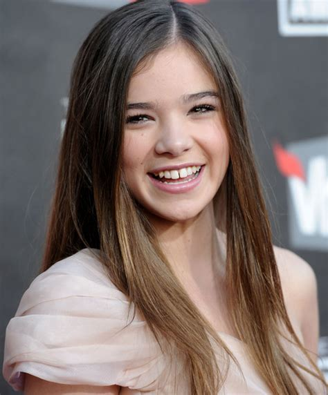 Silky Long Straight Hairstyles for Young Women from Hailee