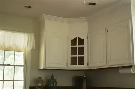 Crown Cupboard Paint by Diy Kitchen Cabinet Upgrade With Paint And Crown Molding