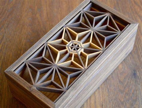 mitered boxes  kumiko panels   lids