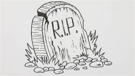 How To Draw A Halloween Tombstone