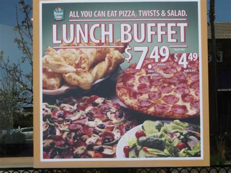 round table pizza lunch buffet lunch buffet special picture of round table pizza