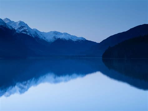 Download Mountains, lake, blue, reflections, nature ...