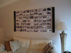 diy photo wall decor idea diyinspiredcom With diy wall decor for bedroom