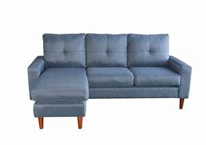 Canapé Bleu Clair : canap d 39 angle azur tissu bleu clair canap s et ~ Teatrodelosmanantiales.com Idées de Décoration