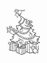Coloring Tree Printable Holiday Recommended Mycoloring sketch template