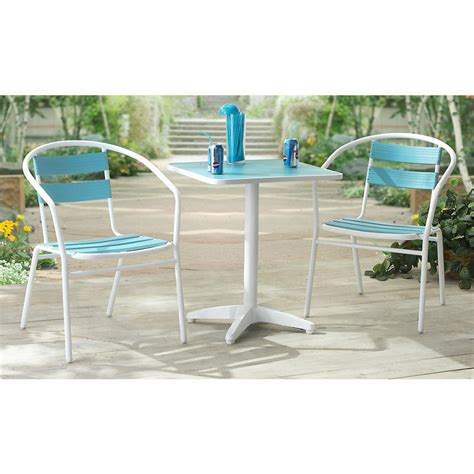 Summer Winds Patio Furniture by Summer Winds Cafe Set Orange 139019 Patio Furniture At