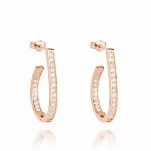 Ingenious rose gold oval shape hoop earrings - Ingenious ...