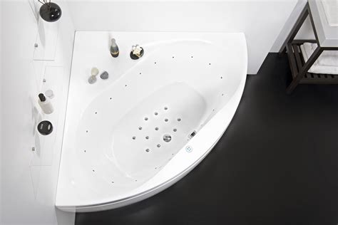 aquatica olivia  relax air jetted corner bathtub
