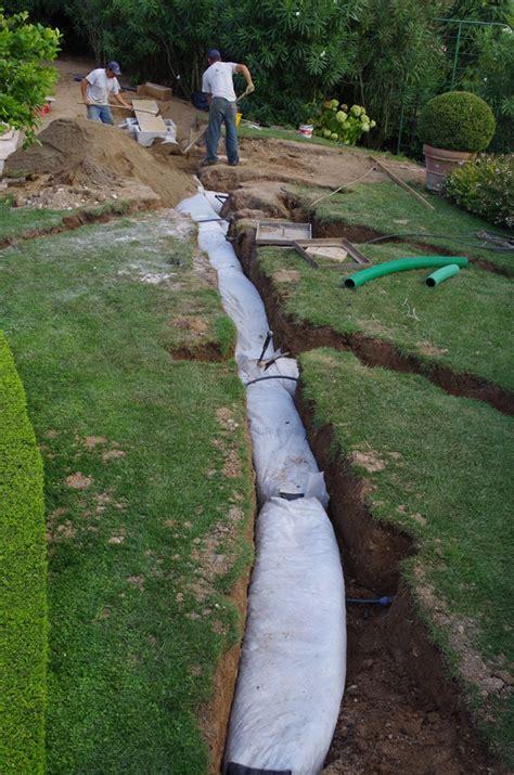 drenaggio terreno giardino idroter de martinelli francesco syst 232 mes de drainage pour