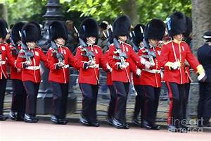 Irish Guards On The March Photograph by James Brunker