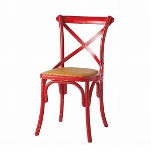 Chaise Bistrot Maison Du Monde : chaise rouge tradition maisons du monde ~ Melissatoandfro.com Idées de Décoration