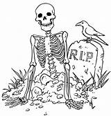 Coloring Pages Halloween Printable Skeleton Spooky Scary Colouring Print Adult Printables Adults Sheet Drawings Witch Pumpkin Ghost Bing Haunted Witches sketch template