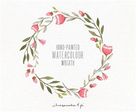 watercolor wreath 1 png floral clip by cheesecakeandpi graphics for creatives