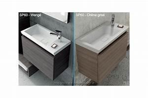 meuble mural a tiroir amortir et vasque ceramique 60cm x With salle de bain design avec vasque a poser 60 cm