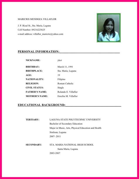Curriculum Vitae Sle For Nursing Students by How To Write A Curriculum Vitae Academic