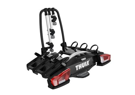 thule e bike träger thule velocompact 927 towbar bike carrier for 3 4 bikes carbox