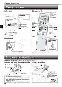 Mitsubishi Mini Split Remote Instructions