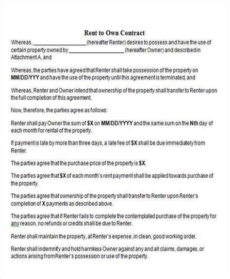 to own agreement create ohio land contract form simple land contract form Rent