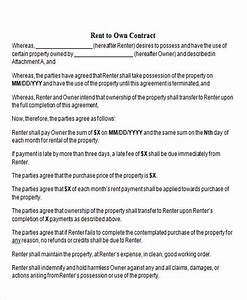 rent to own contract sample 9 examples in word pdf With rent to buy agreement template