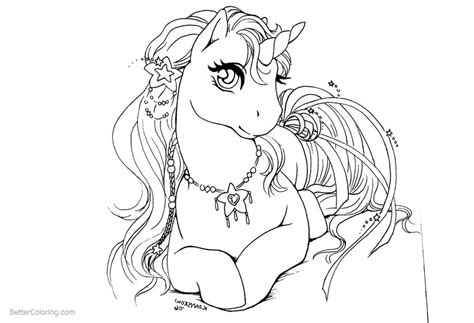 awesome female unicorn coloring pages queen